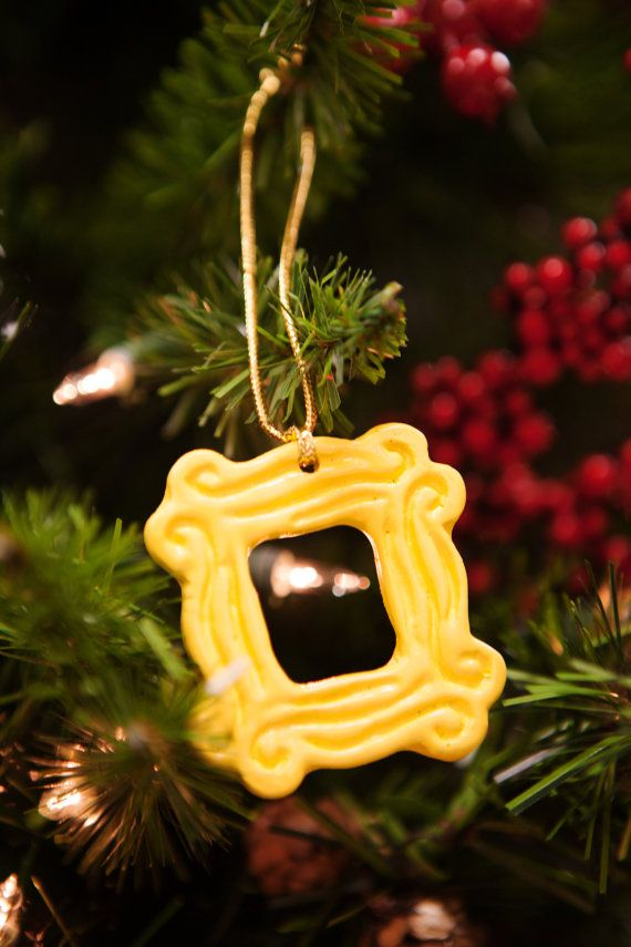 Yellow Peephole Frame Ornament 2.25 x 2.25 inspired by CoolTVProps