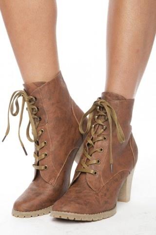 Azura Lace-Up Boot - Whisky