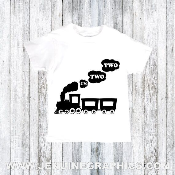 Second birthday shirt im TWO TWO tshirt2nd by JenuineGraphics