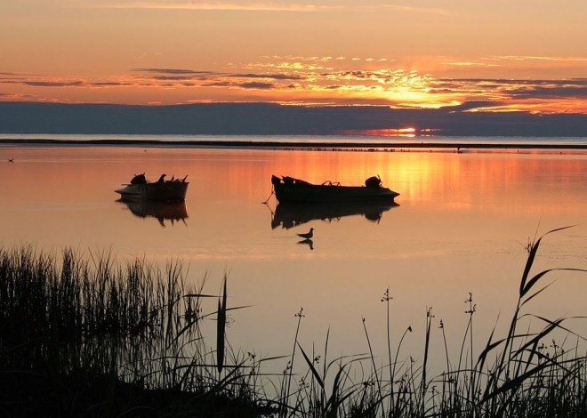 #Fishermen's #boats in the #Danube #Delta.