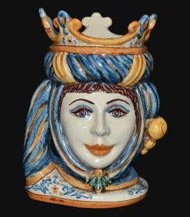 "Moor's Head. Sicilian ceramic ""Moor's head"" from Caltagirone."
