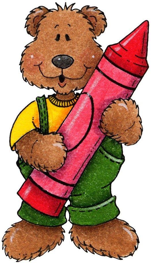 Bear with crayon