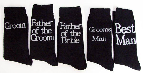 Groom & The Grooms party personalised socks