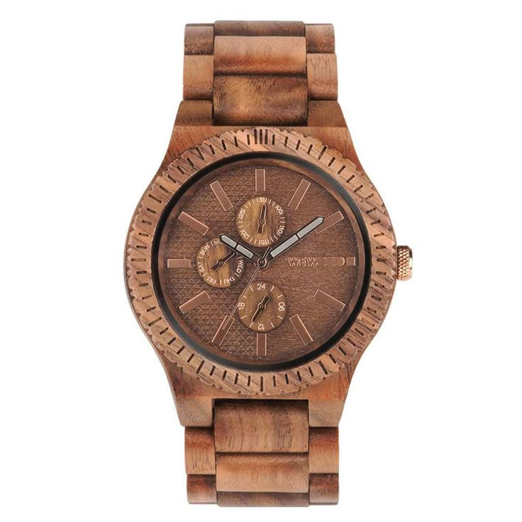 WeWOOD houten horloge Kos Nut » Kish.nl