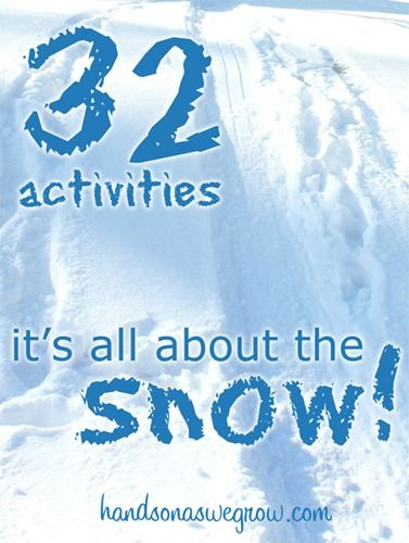 32 Snow Theme Activities For Kids this Winter - activities, crafts and sensory tubs - all to do with snow for kids!