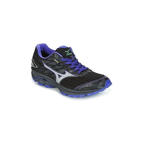 Mizuno WAVE RIDER20G-TX (W) Running Trainers (180 CAD) ❤ liked on Polyvore featuring shoes, athletic shoes, black, running shoes, women, kohl shoes, mizuno shoes, black athletic shoes, mizuno footwear and black shoes