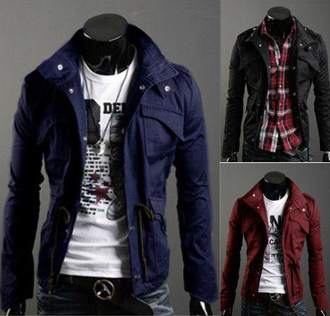 Envío gratuito nuevo adelgaza el envío diseñado superior atractivo escudo chaqueta para hombre color : negro, verde del ejército, gris, venta al por mayor y al por menor, caliente