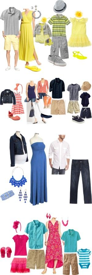 What to Wear for Family Portraits-Spring/Summer by kristie-sanborn-cabral on Polyvore featuring Old Navy, Gap, Effy Collection, Carter's, PLH Bows & Laces, Lord & Taylor, Kenneth Cole Reaction, Ann Taylor, Katin and Express