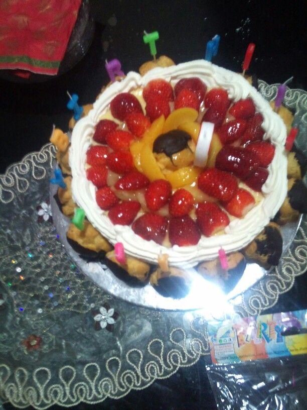 Sponge finger cake for my birthday