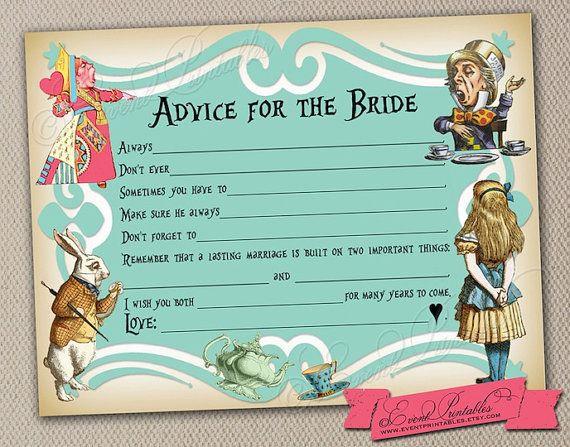 Printable DIY Alice in Wonderland Mad Libs by EventPrintables