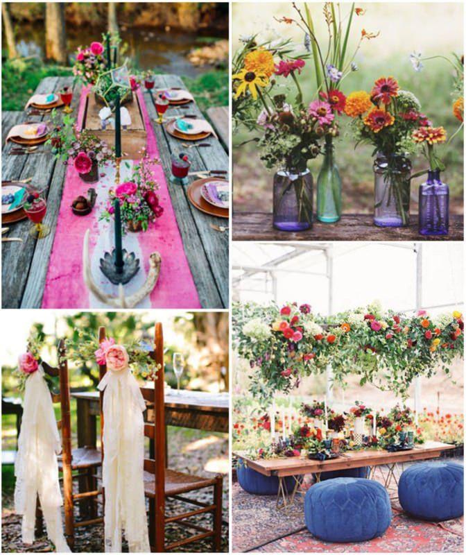 Fiori Bohemien Matrimonio : Tendenza nozze matrimonio bohèmien chic decorations hippie