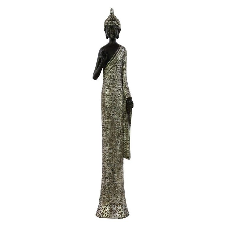 Urban Trends Two Tone Resin Standing Buddha Sculpture - 73179