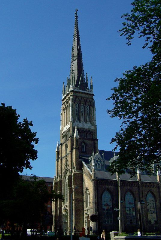 St. Michael's Catholic Cathedral in Toronto, Ontario.  A Roman Catholic church, founded in 1841, this building built in 1848.