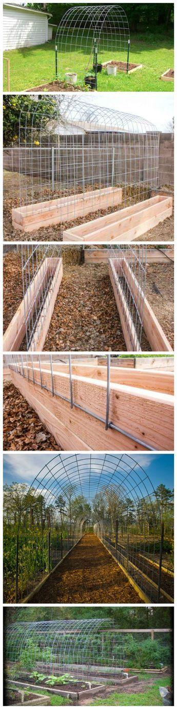 DIY Trellis & Raised Garden Box Combo