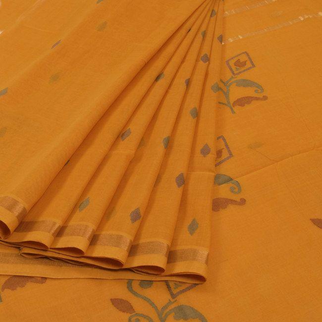 Ghanshyam Sarode Yellow Handwoven Uppada Jamdani Cotton Saree 10009445 - profile - AVISHYA.COM