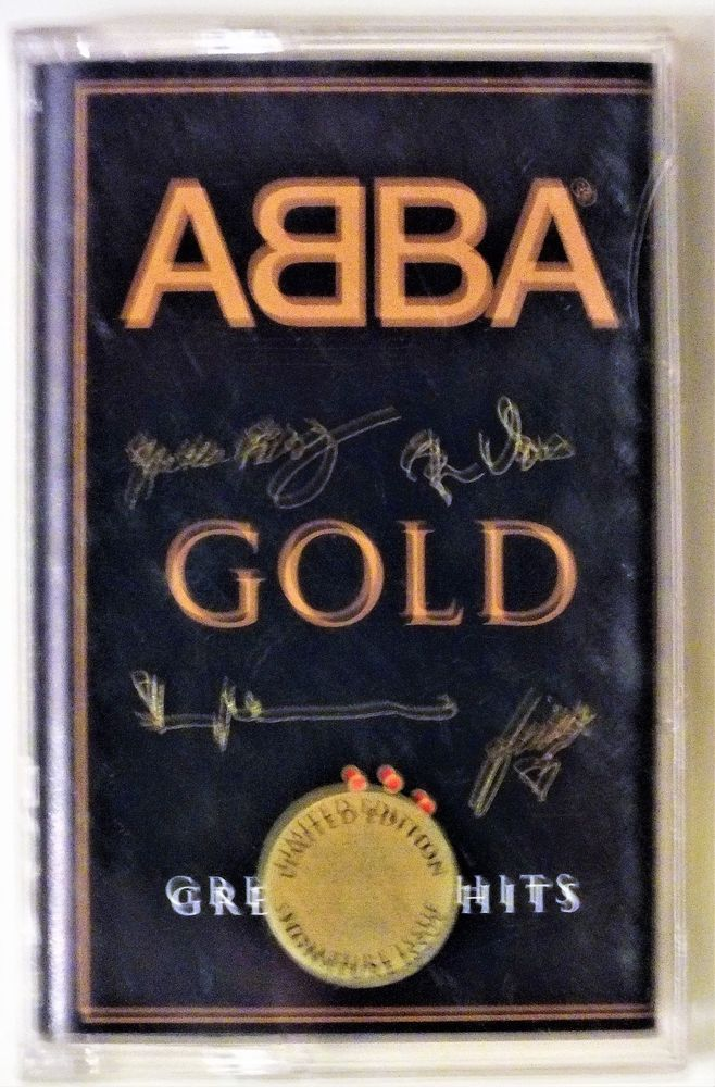 Abba Gold Greatest Hits Limited Edition Signature Case Cassette Tape - Tested