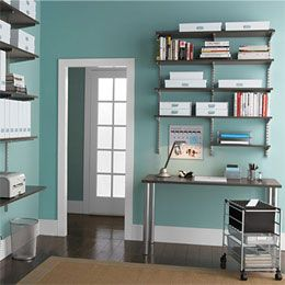 Elegant The Container Store U003e Driftwood U0026 Platinum Elfa Office Solid Shelving Color