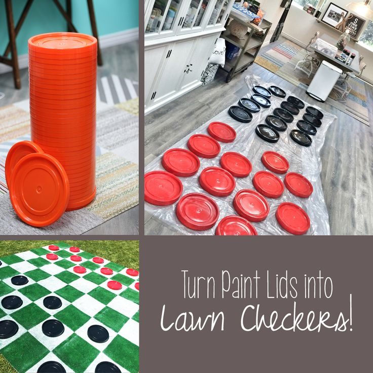 DIY Lawn Checkers via Lilyshop Blog by Jessie Jane