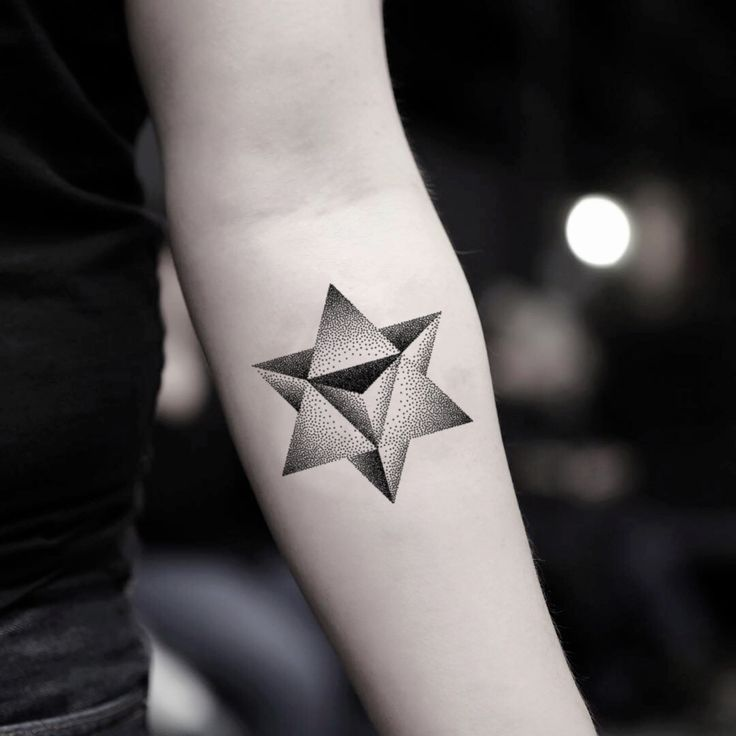 Merkaba Temporary Tattoo Sticker (Set of 2) | Star tattoos, Tattoo stickers, Star tattoo designs
