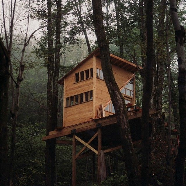 Treehouse By Linda Aldredge In Catskill State Park New York Cabin Rustic