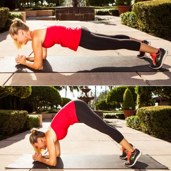 Inching Elbow Plank - Burn Lower-Belly Fat: The Best Exercises for Lower Abs - Shape Magazine