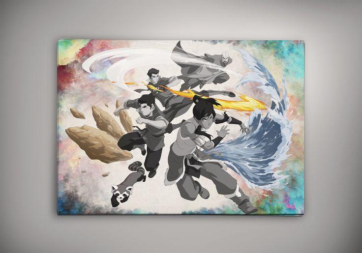 Pubg Fanart Acrylics Paper: Avatar The Last Airbender Korra Poster Anime Otaku Manga