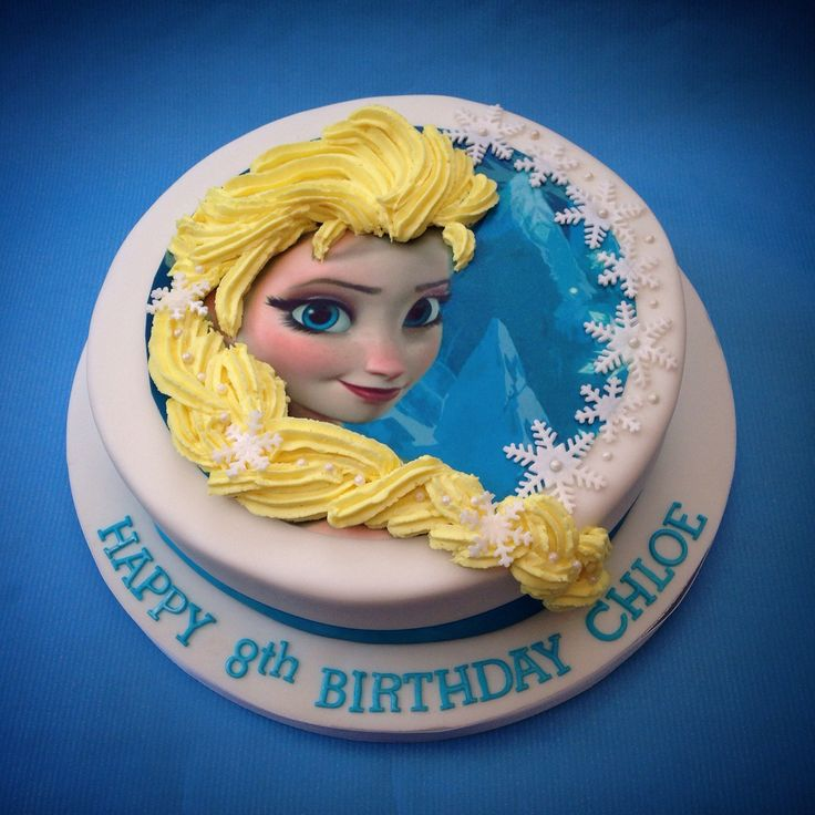 Elsa print with buttercream hair