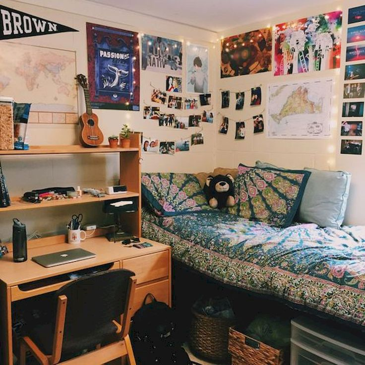 Awesome 60 Stunning and Cute Dorm Room Decorating Ideas https://decorapatio.com/2017/06/16/60-stunning-cute-dorm-room-decorating-ideas/