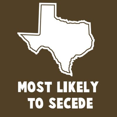 While the rest of the US is equally divided on whether or not to seced, Texas knows it has the 15th largest economies in the world and for the most part is completely self reliant...