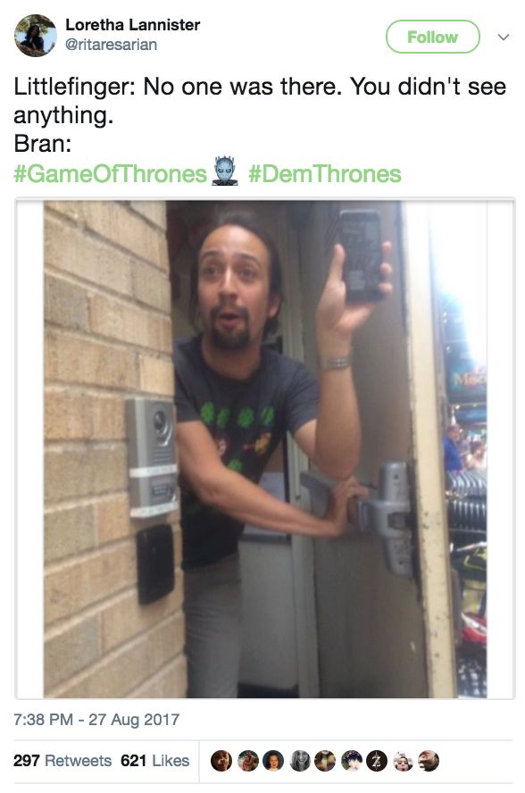 """""""Jon Snow is not a bastard, but he probably just made one."""" Bran Stark, game of thrones season 7 funny humour meme tweet"""