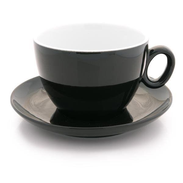 Inker black latte cup 12 oz demitasse