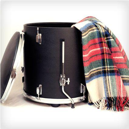 Drum Storage Ottoman