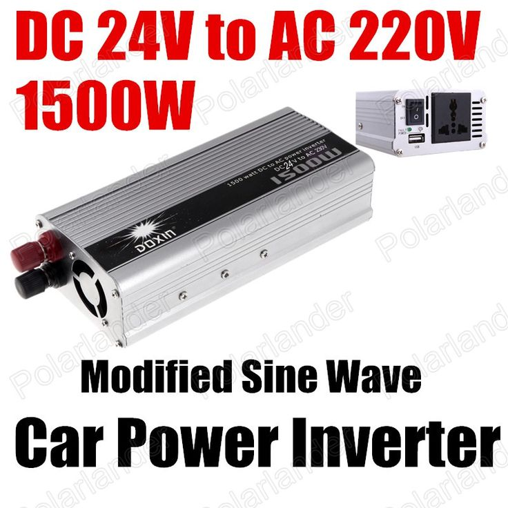 1500W Portable Car Automotive Power Inverter Charger Converter DC 24V to AC 220V voltage transformer Modified Sine Wave