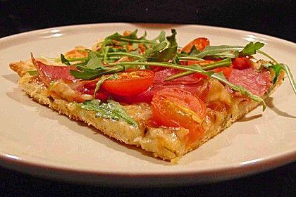 Rucola - Pizza mit Parmaschinken (Rezept mit Bild)   Chefkoch.de