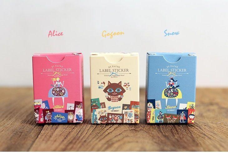3 packs sticker - Alice & Gogoon & Snow (48 sheet x 3 pack = 144 sheet)