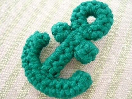 crochet anchor applique                                                       …