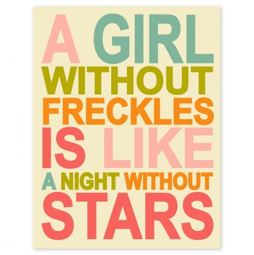 Girl Without Freckles