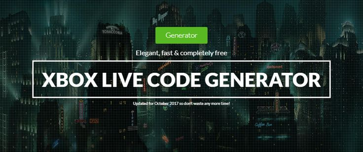 Free Xbox Live Gold Codes Generator 2017!