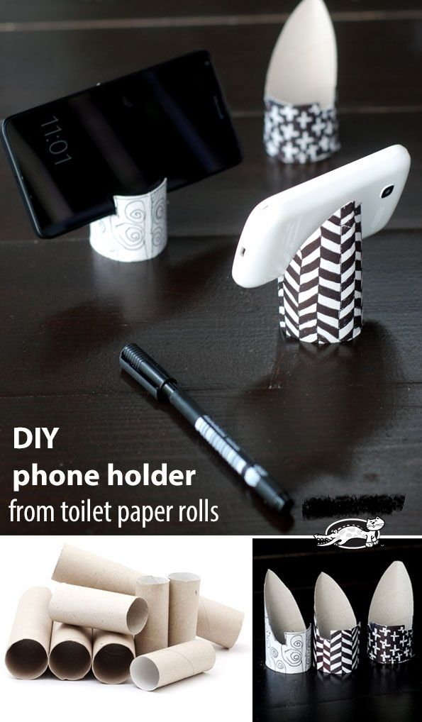 Diy Phone Holder From Toilet Paper Roll