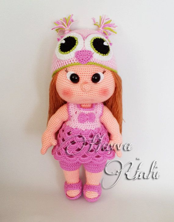 PATTERN  JUST CLOTHES   owl hat and clothes by HavvaDesigns