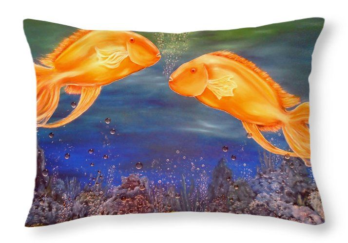 Throw Pillow,  home,accessories,sofa,couch,decor,cool,beautiful,fancy,unique,trendy,artistic,awesome,fahionable,unusual,gifts,presents,for,sale,design,ideas,blue,colorful,fish,ocean,underwater