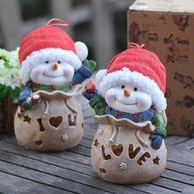 -Оптические рождественский снеговик с свет мешки смолы копилка рождество копилка Рождественские украшения A4(China (Mainland))
