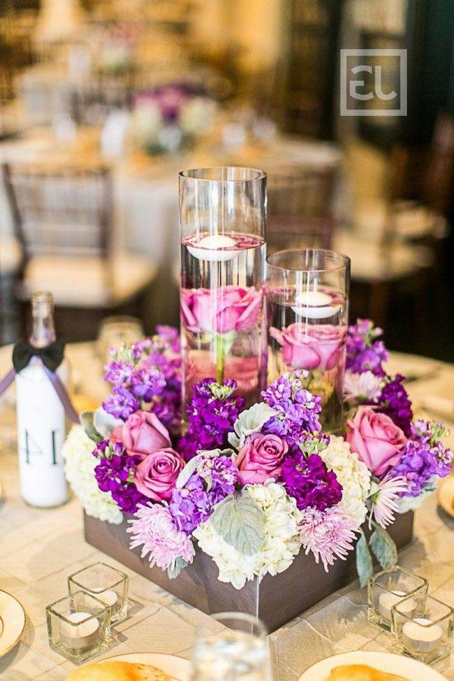 30 Fabulous Floating Wedding Centerpiece Ideas In 2020 Purple Wedding Centerpieces Purple Centerpieces Fall Wedding Centerpieces