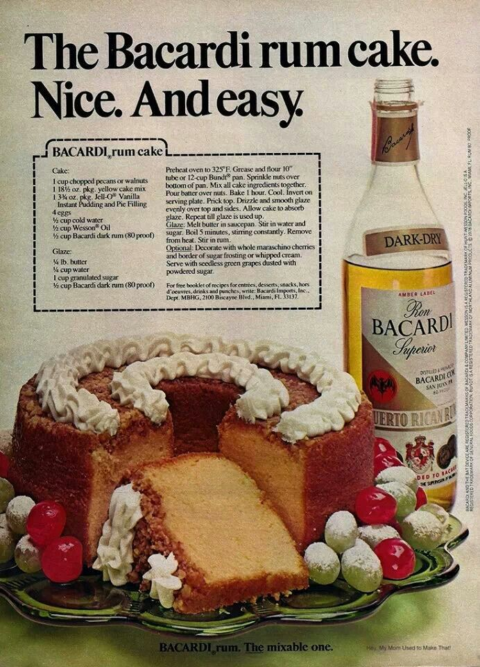 Cake Recipe Books That Have Old Recipes For Rum Cake
