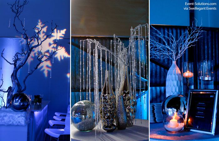 table decor for winter wonderland party