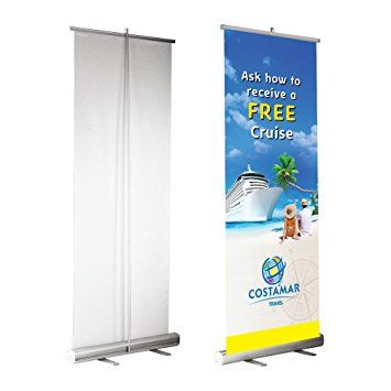 Step up your game with  retractable banner stands.