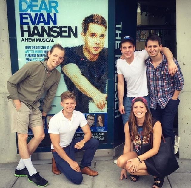 AKB with Mike Faist and the cast of Dear Evan Hansen
