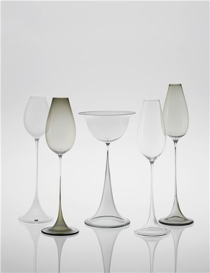 PHILLIPS : UK050113, NILS LANDBERG, Group of five glasses, from the 'Tulip' series