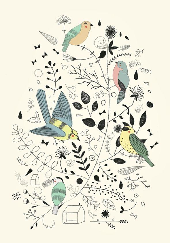 Springtime Birds by Studio Meez