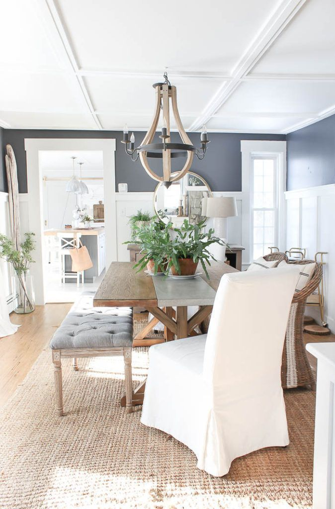75 Beautiful Dining Room In 2020 Dining Room Blue Farmhouse Dining Room Dining Room Design #navy #blue #farmhouse #living #room